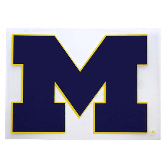 Cdi university of michigan block m window sticker 3 1 4 x 4 1