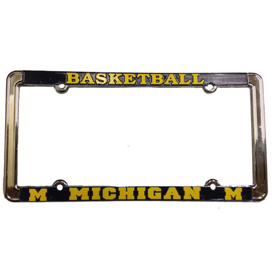 Strand Art University of Michigan Basketball License Plate Frame