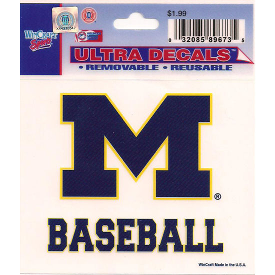 Wincraft Michigan Wolverines Baseball Decal- 3 x 3.75