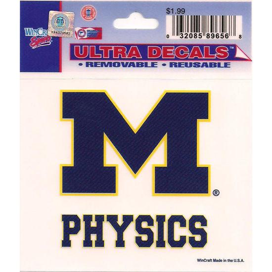 Wincraft University of Michigan Physics Decal- 3 x 3.75