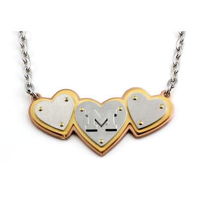 Beliza Gold IP Michigan Heart Necklace
