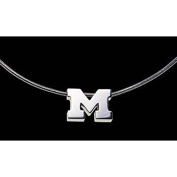 Beliza Large Michigan M Pendant / Chain