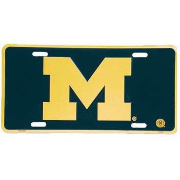 University of Michigan Block M License Plate