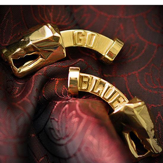 MaraWatch University of Michigan 22K Gold Plated Brass Wolverine Cufflinks