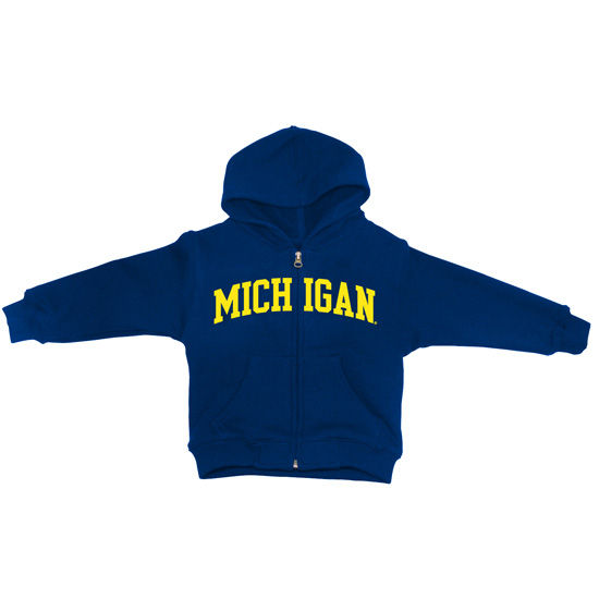 University of MIchigan Infant Navy Full Zip Hooded Sweatshirt