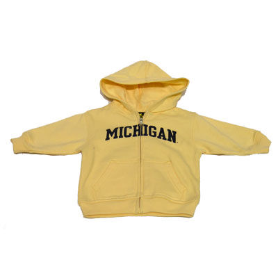 University of Michigan Infant Butter Yellow Full Zip Hooded Sweatshirt