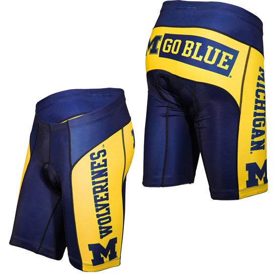 Adrenaline University of Michigan Bike Shorts
