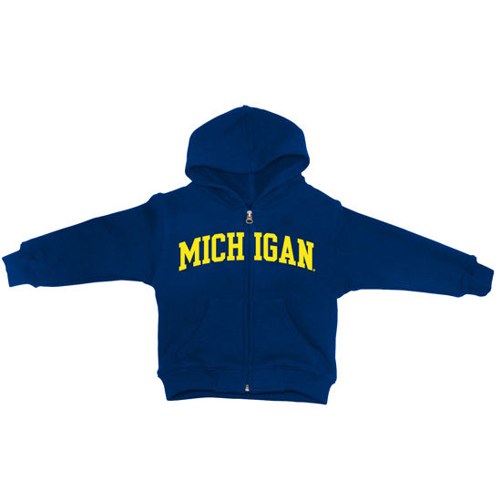 University of Michigan Toddler Navy Full Zip Hooded Sweatshirt
