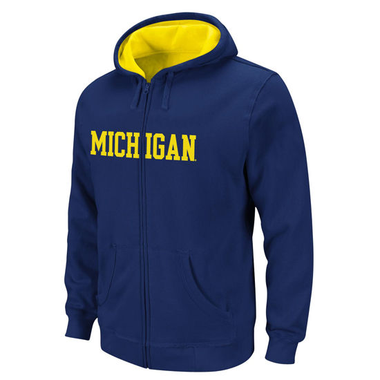 Outerstuff University of Michigan Youth Navy Full Zip Hooded Sweatshirt