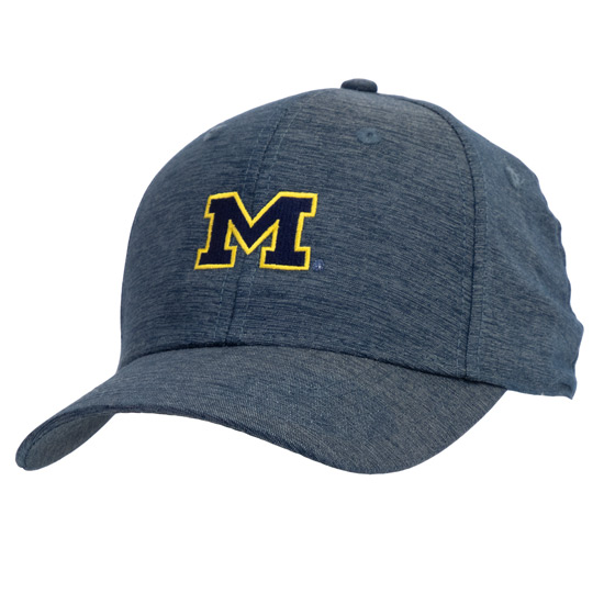 Ahead University of Michigan Heather Navy Mid-Fit Hat