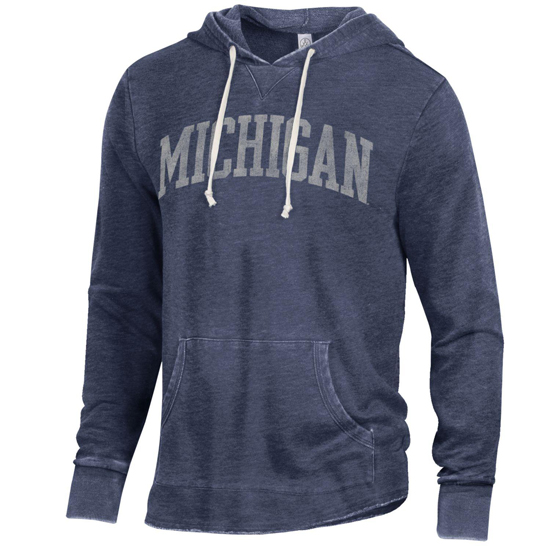 Alternative Apparel University of Michigan Navy School Yard Hooded Sweatshirt
