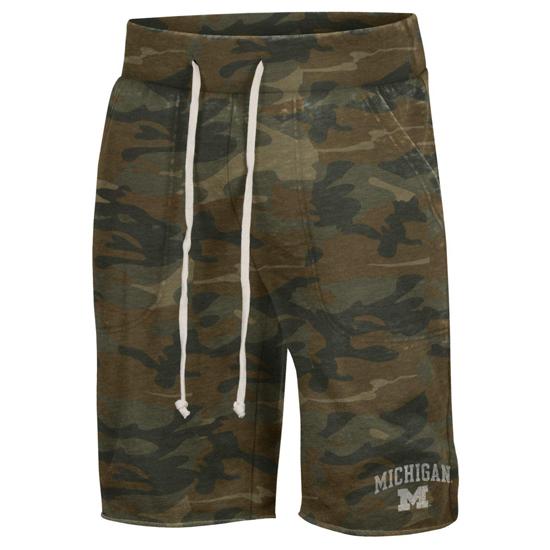 Alternative Apparel University of Michigan Camouflage Victory Shorts