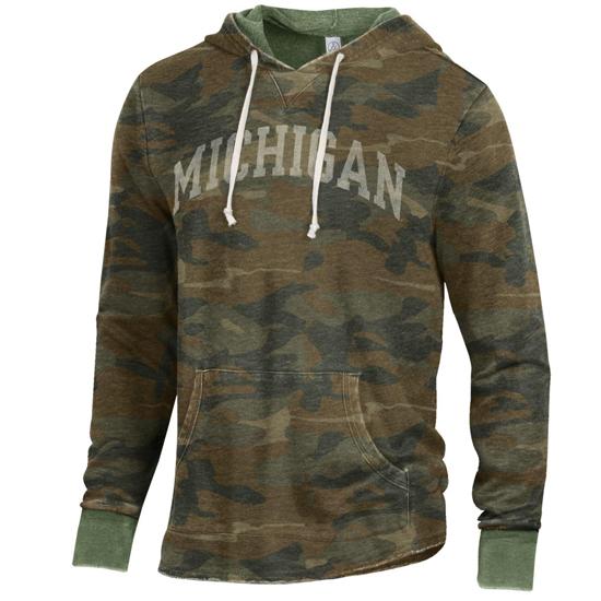 Alternative Apparel University of Michigan Camouflage School Yard Hooded Sweatshirt