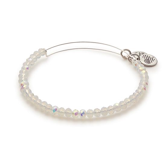 Alex and Ani Brilliance Beaded Bangle Bracelet with Silver Finish