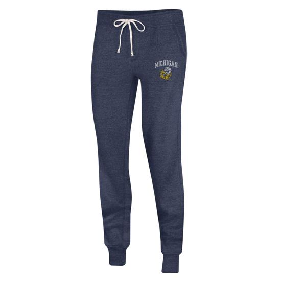 Alternative Apparel University of Michigan Women's Echo Navy College Vault Wolverine Jogger Pants