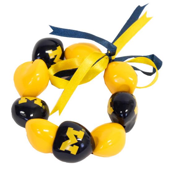 Aminco University of Michigan Kukui Nut Bracelet