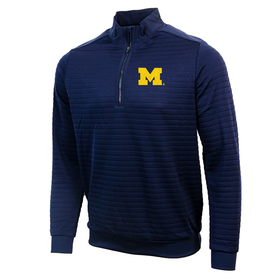 Antigua University of Michigan Navy Sanction 1/4 Zip Pullover