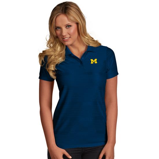 Antigua University of Michigan Women's Navy ''Illusion'' Polo