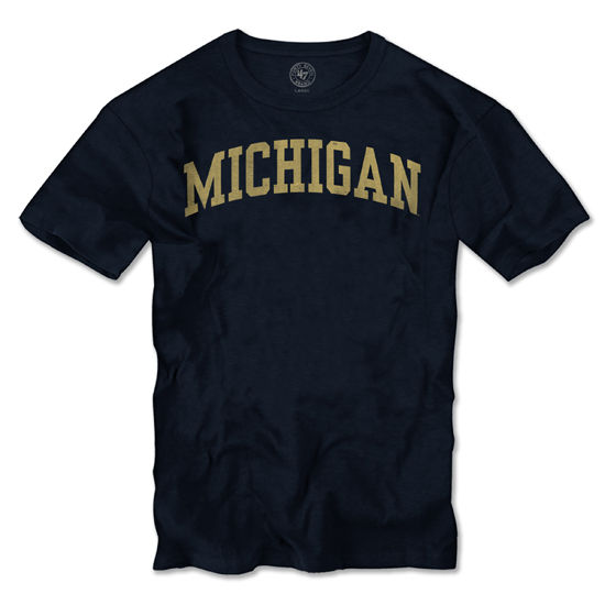 '47 Brand University of Michigan Navy Distressed Basic Tee
