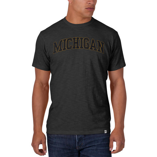 '47 Brand University of Michigan Charcoal Gray Scrum Tee