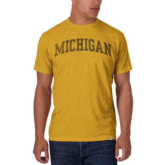 '47 Brand University of Michigan Yellow Distressed Basic Scrum Tee