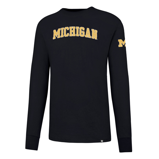 '47 Brand University of Michigan Navy Long Sleeve Field House Tee