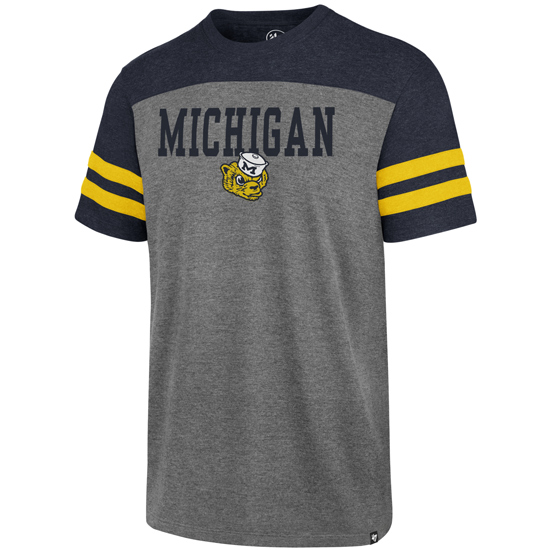 '47 Brand University of Michigan College Vault Wolverine Versus Tri-Color Tee