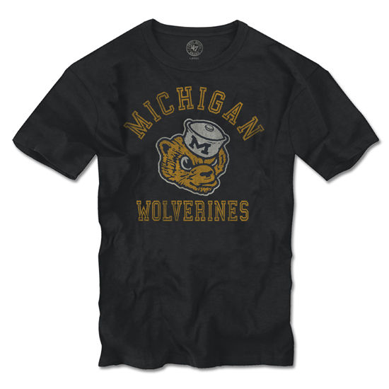 '47 Brand University of Michigan Charcoal College Vault Wolverine Tee