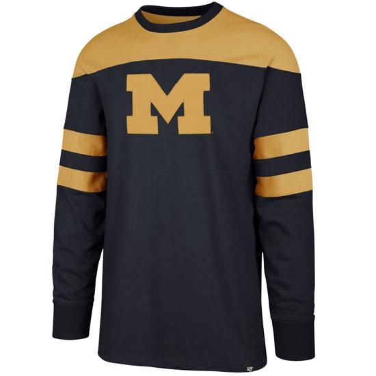 '47 Brand Men's or Unisex Navy/Gold Long Sleeve Crewneck Sweatshirt