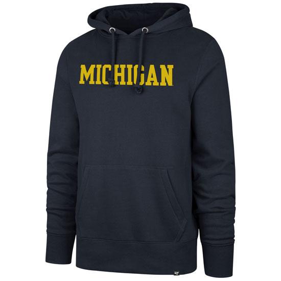 '47 Brand University of Michigan Navy ''Headline'' Hooded Sweatshirt