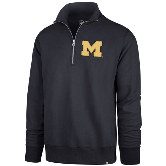 '47 Brand University of Michigan Navy Stateside 1/4 Zip Pullover