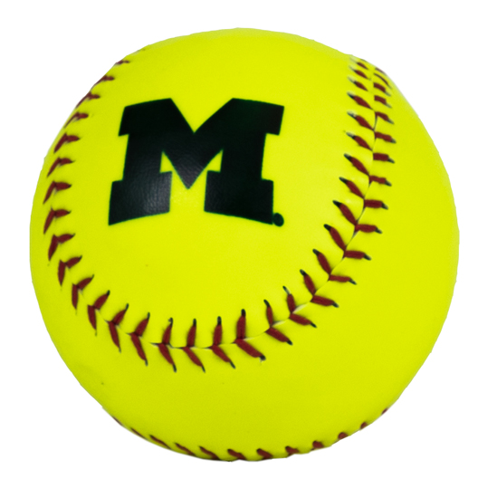 Baden University of Michigan Softball Neon Softball