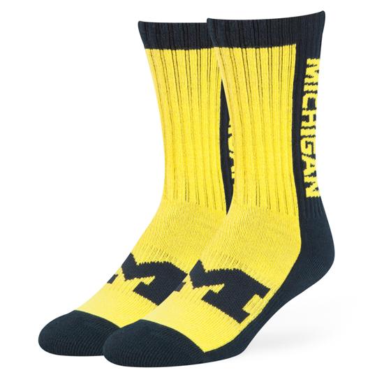 47 Brand University of Michigan Riggins Crew Sport Socks