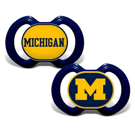 Baby Fanatic University of Michigan Pacifiers (2 Pack)