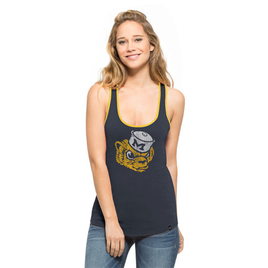 '47 Brand University of Michigan Ladies Navy Vault Wolverine Clutch Tank Top