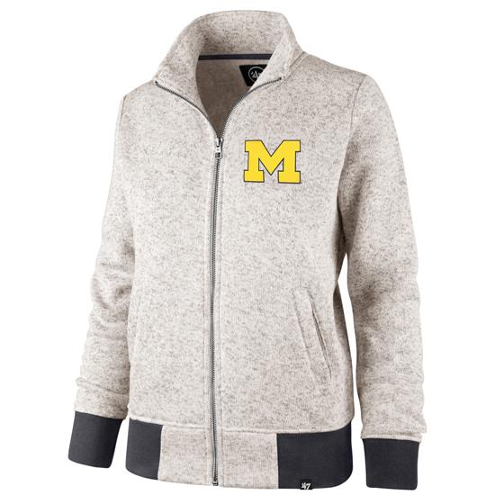 '47 Brand University of Michigan Women's Kodiak Full Zip Jacket