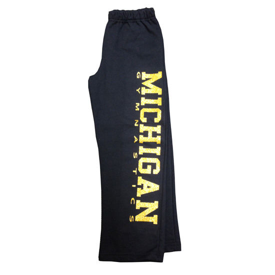 Bear Affair University of Michigan Gymnastics Youth Navy Sweatpant