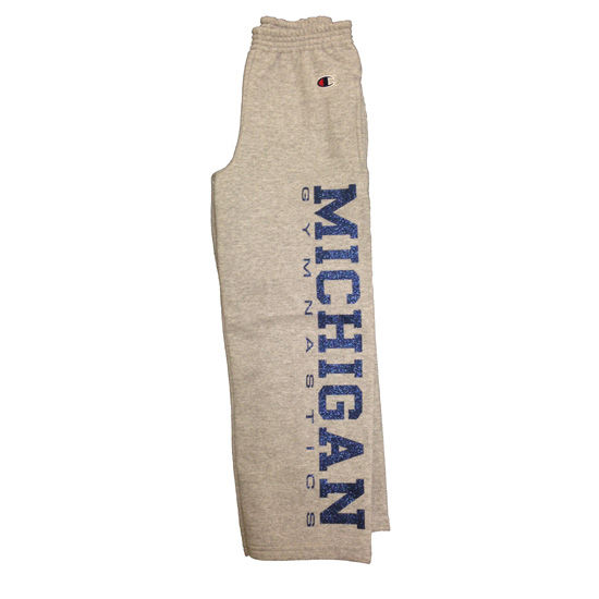 Champion University of Michigan Gymnastics Youth Gray Sweatpant