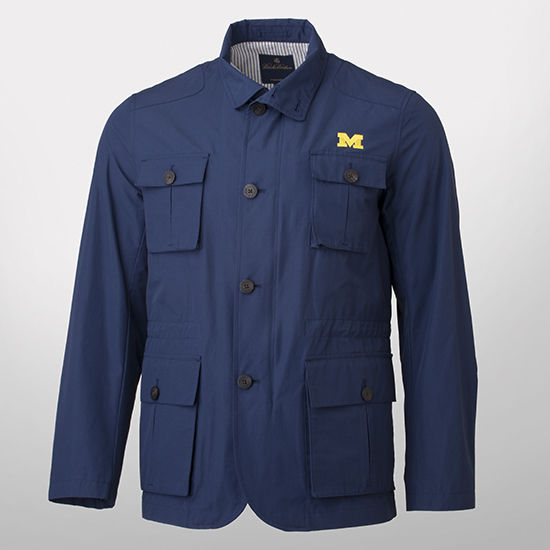 Brooks Brothers University of Michigan Navy Hybrid Mid-Weight Jacket