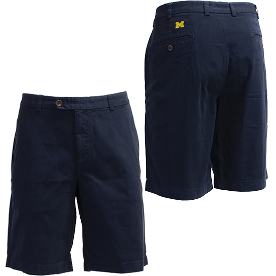 Brooks Brothers University of Michigan Navy Garment Dyed Bermuda Shorts