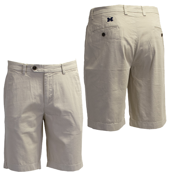 Brooks Brothers University of Michigan Oatmeal Garment Dyed Bermuda Shorts