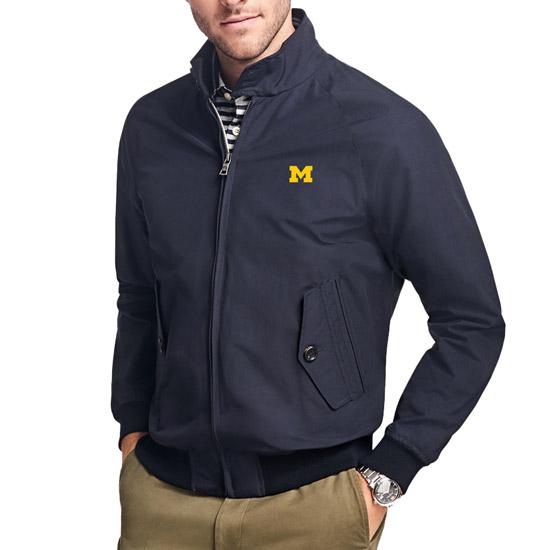 Brooks Brothers University of Michigan Navy Vintage Baracuta Bomber Jacket