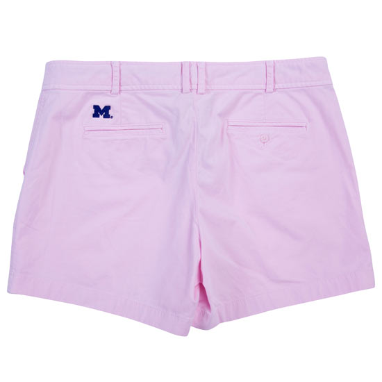 Brooks Brothers Red Fleece University of Michigan Women's Light Pink Cotton Twill Shorts