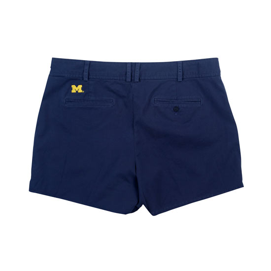 Brooks Brothers Red Fleece University of Michigan Women's Navy Cotton Twill Shorts