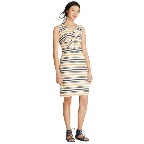 Brooks Brothers Red Fleece University of Michigan Women's Striped Twist-Detail Sheath Dress
