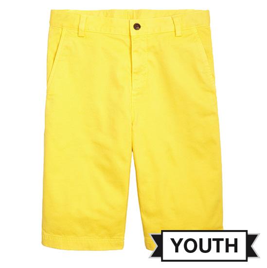 Brooks Brother University of Michigan Youth Yellow Washed Chino Shorts