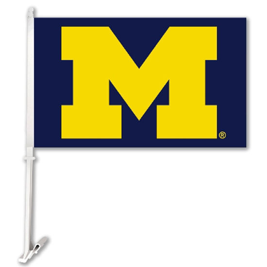 BSI University of Michigan Oversized Block M Car Flag