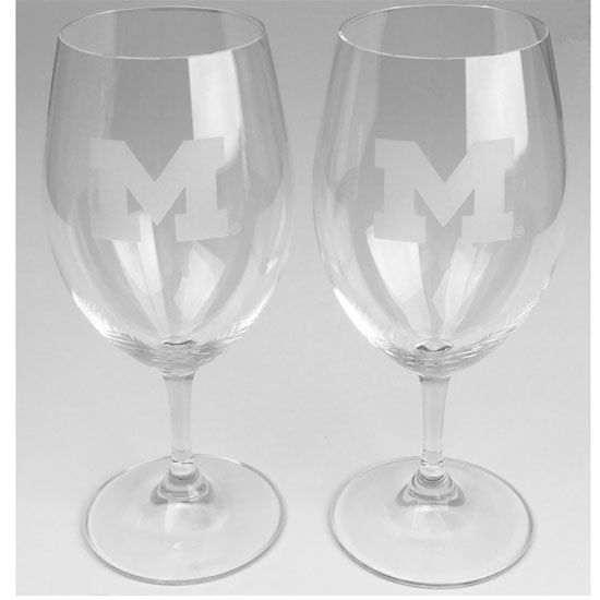 Reidel University of Michigan Crystal Red Wine Glass Set