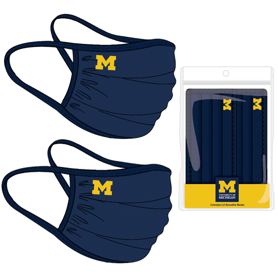 University of Michigan Campus Issued Face Cover (2 Pack)