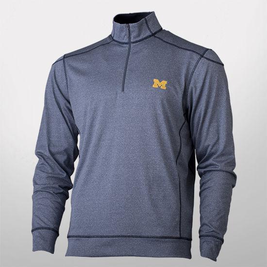 Cutter & Buck University of Michigan Green Lake Half Zip Pullover Jacket